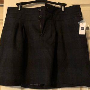 NWT Gap pleat style plaid skirt